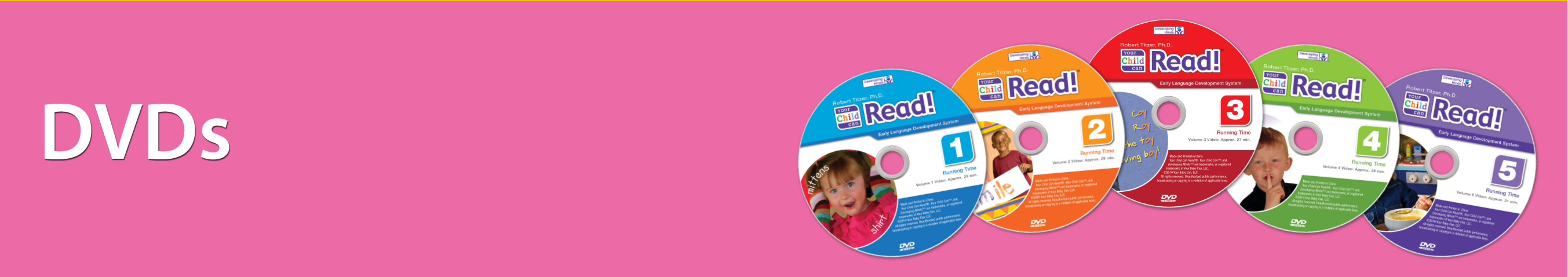 Your Child Can Read DVDs