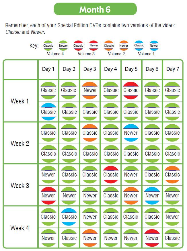 Month 6 Schedule