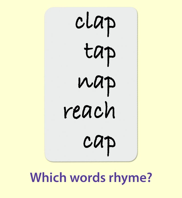 Word Matching Game. Which one of these words says nose?