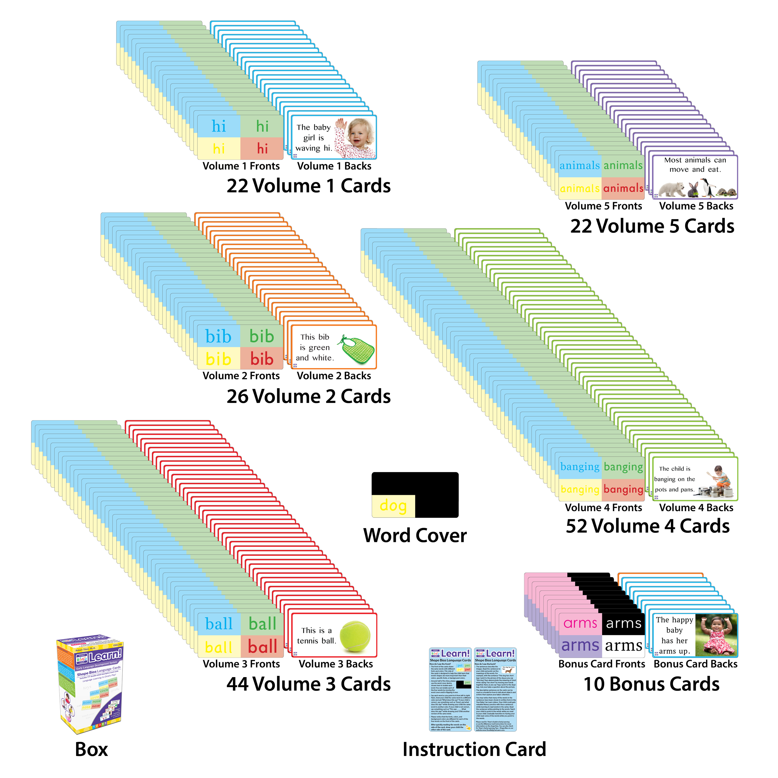 Shape Bias Language Cards