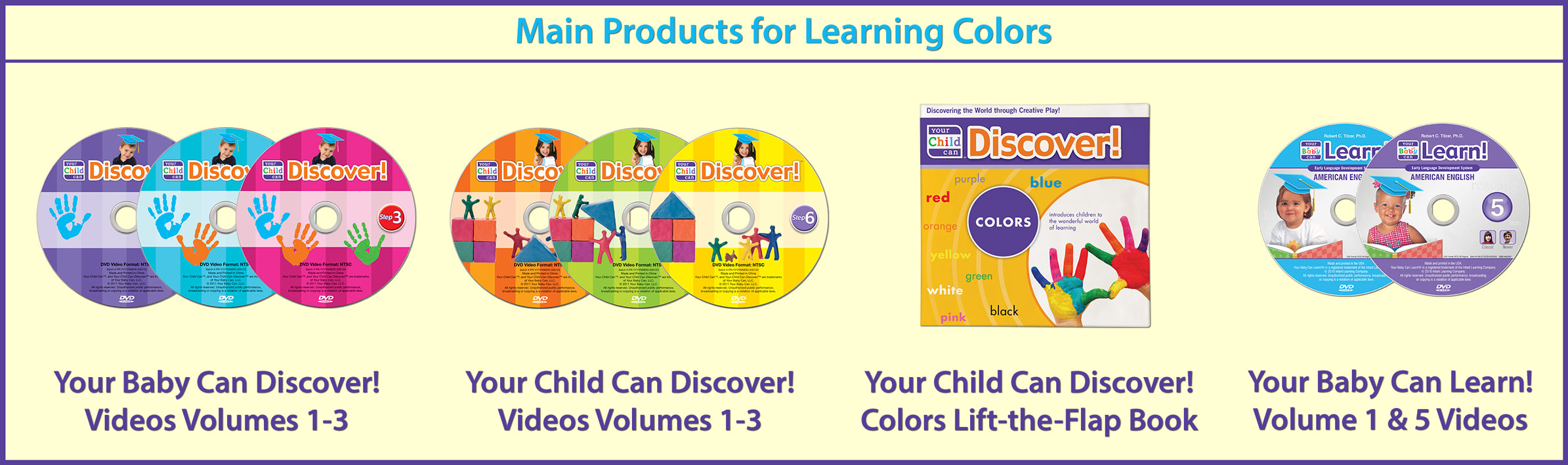 Main Products for Learning Colors