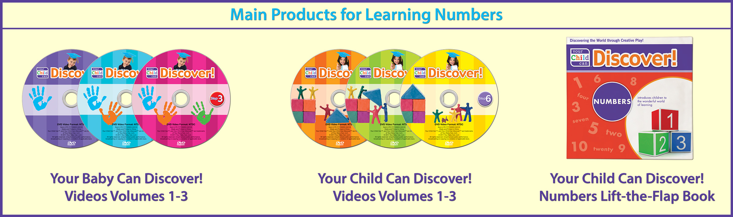 Main Products for Learning Numbers