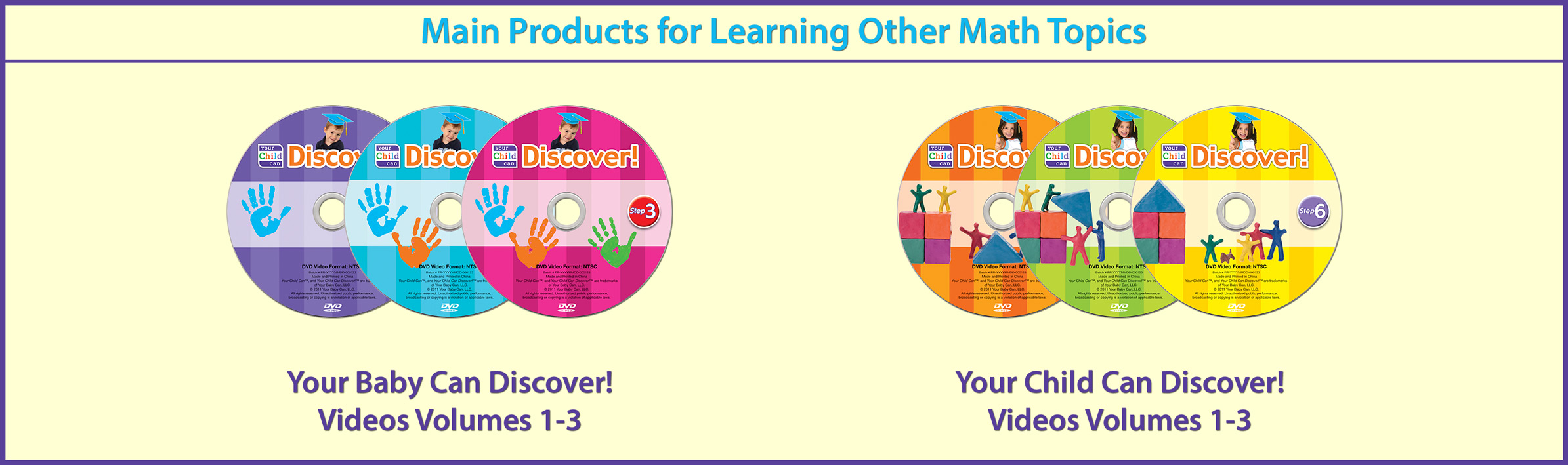 Main Products for Learning Other Math Topics