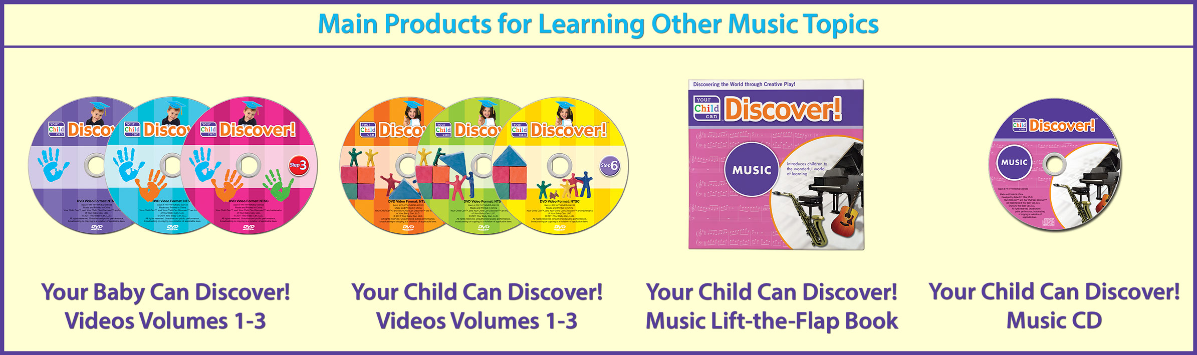 Main Products for Learning Other Music Topics