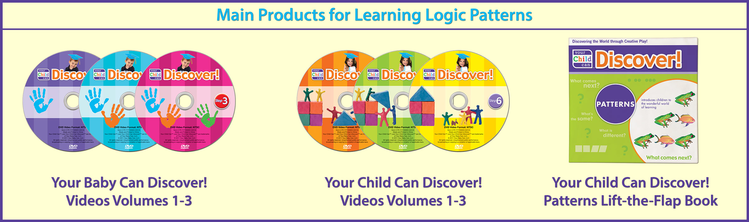 Main Products for Learning Logic Patterns