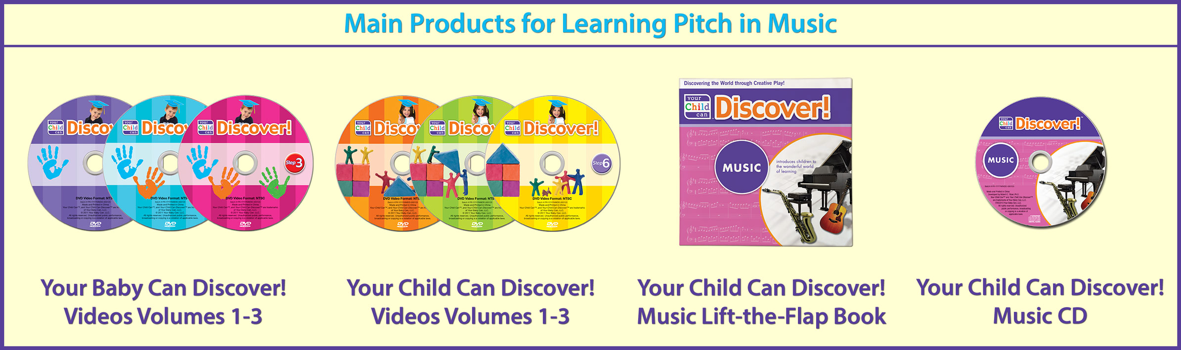 Main Products for Learning Pitch in Music