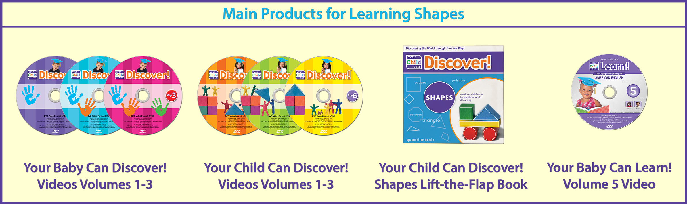 Main Products for Learning Shapes
